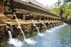 Pura Tirtha Empul, Bali, Indonesia. Holy spring water in temple pura Tirtha Empul inTampak, one of Bali's most important temples, Indonesia royalty free stock photo