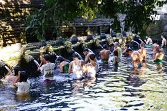 Pura Tirtha Empul Temple, Bali, Indonesia stock photography