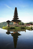 Pura Ulu Danau Lake Temple Bali Blue Dawn Sky  Stock Images