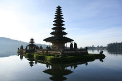 Pura Ulu Danau Lake temple bali blue dawn sky Stock Photography