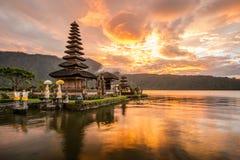 Pura Ulun在巴厘岛,印度尼西亚的Danu Bratan 库存图片