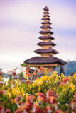 Pura Ulun Danu Batur是一个寺庙在巴厘岛 库存照片