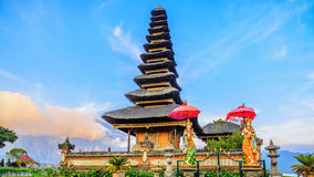 Pura Ulun Danu Batur是一个寺庙在巴厘岛 免版税库存图片