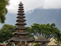The Pura Ulun Danu Beratan Bedugul Temple in Bali royalty free stock photos