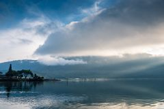Pura Ulun Danu Beratan. The most expressive temple on Bali in Bedugul Royalty Free Stock Image