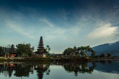 Pura Ulun Danu Beratan. The most expressive temple on Bali in Bedugul Stock Photo