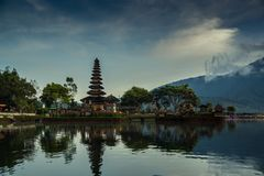 Pura Ulun Danu Beratan. The most expressive temple on Bali in Bedugul Royalty Free Stock Photography