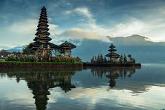 Pura Ulun Danu Beratan. The most expressive temple on Bali in Bedugul Stock Image