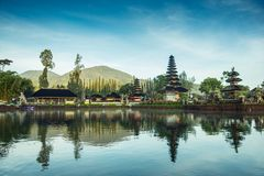 Pura Ulun Danu Beratan. The most expressive temple on Bali in Bedugul Stock Photos