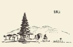Pura Ulun Danu Bratan印度寺庙巴厘岛印度尼西亚 皇族释放例证