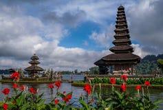 Pura Ulun Danu Bratan,巴厘岛,印度尼西亚 图库摄影