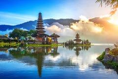 Pura ulun danu bratan świątynia w Bali zdjęcia royalty free