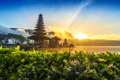 Pura ulun danu bratan świątynia w Bali obraz royalty free