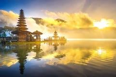 Pura ulun danu bratan świątynia w Bali fotografia stock