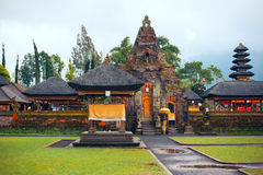 Pura Ulun Danu Bratan, индусский висок на озере Bratan, Бали, Индонезии Стоковое Изображение RF