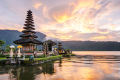 Pura Ulun Danu Bratan на Бали, Индонезии Стоковое Фото