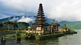 Pura Ulun Danu Bratan Bali Lizenzfreies Stockfoto