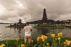 Pura Ulun Danu Bratan, Bali fotos de archivo