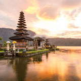 Pura Ulun Danu Bratan a Bali, Indonesia immagine stock libera da diritti