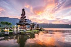 Pura Ulun Danu Bratan a Bali, Indonesia fotografia stock libera da diritti