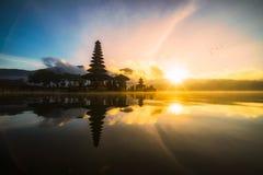 Pura Ulun Danu Bratan Bali Indonesia, Hinduska świątynia na Bratan lak Zdjęcia Royalty Free