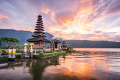 Pura Ulun Danu Bratan en Bali, Indonesia fotografía de archivo libre de regalías