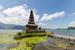 Pura ulun danu bratan famous bali temple in indonesia Royalty Free Stock Photos