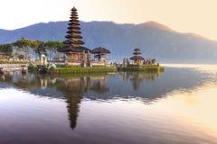 Pura Ulun Danu Bratan, Hindu temple on Bratan lake, Bali, Indonesia.  royalty free stock photography