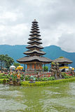 Pura Ulun Danu Bratan, Hindu temple on Bratan lake, Bali, Indone Stock Photography