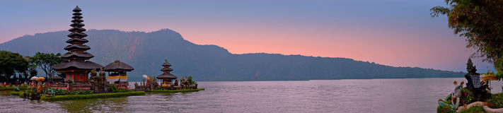Pura Ulun Danu Bratan, Hindu temple on Bratan lake, Bali, Indone Royalty Free Stock Photography