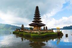 Pura Ulun Danu Bratan, Hindu temple on Bratan lake, Bali Stock Image