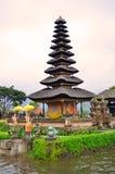 Pura Ulun Danu Bratan, Hindu temple on Bratan lake, Bali, Indonesia.  stock images