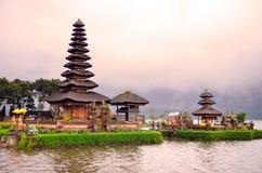 Pura Ulun Danu Bratan, Hindu temple on Bratan lake, Bali, Indonesia.  stock photos