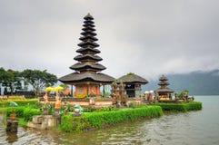 Pura Ulun Danu Bratan, Hindu temple on Bratan lake, Bali, Indonesia.  royalty free stock photos