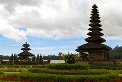 Pura Ulun Danu Bratan, Hindu temple on Bratan lake in Bali Indonesia.  stock image