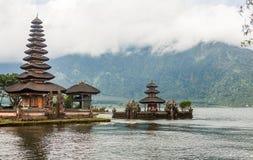 Pura Ulun Danu Bratan, Hindu temple on lake, Bali Stock Photography
