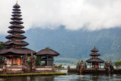 Pura Ulun Danu Bratan, Hindu temple on lake, Bali Stock Images