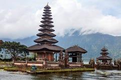 Pura Ulun Danu Bratan, Hindu temple on lake, Bali Stock Photo
