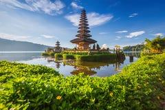 Pura Ulun Danu Bratan lub Pura Beratan świątynia, Bali wyspa zdjęcie royalty free