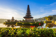 Pura Ulun Danu Bratan at sunrise, Bali, Indonesia royalty free stock photo