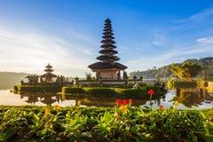 Pura Ulun Danu Bratan at sunrise, Bali, Indonesia Royalty Free Stock Photo
