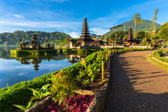 Pura Ulun Danu Bratan at sunrise, Bali, Indonesia royalty free stock photography