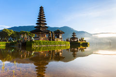 Pura Ulun Danu Bratan at sunrise, Bali, Indonesia royalty free stock images