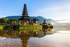Pura Ulun Danu Bratan at sunrise, Bali, Indonesia Royalty Free Stock Images