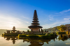 Pura Ulun Danu Bratan at sunrise, Bali, Indonesia stock photos