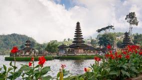 Pura Ulun Danu Bratan sur Bali image libre de droits