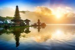 Pura ulun danu bratan temple in Bali. Royalty Free Stock Photo