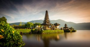 Pura Ulun Danu Bratan temple in Bali, Indonesia royalty free stock image