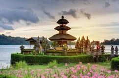 Pura Ulun Danu Bratan temple on the Bratan lake, Bali, Indonesia.  royalty free stock photos