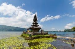 Pura ulun danu bratan temple on lake in bali island indonesia. Pura ulun danu bratan hindu temple on lake in bali indonesia royalty free stock photo